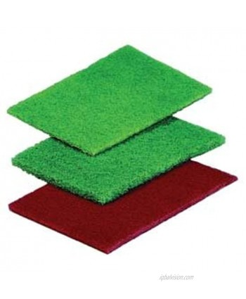 """ACS Industries 96-601 General Purpose Green Scouring Pad UL validated 6"""" x 9"""" Pack of 20"""