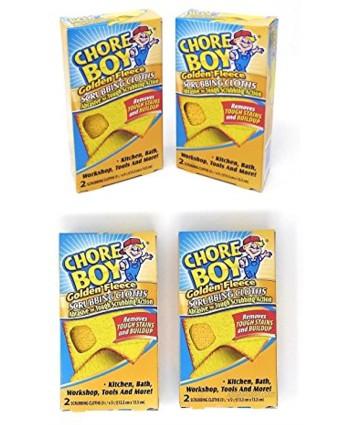 Chore Boy Golden Fleece Scrubbing Cloths | 2-Units per Pack | 4-Pack | Total of 8 Scrubbing Cloths