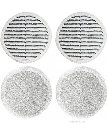 4 Packs Spinwave Mop Pad Kit Replacement Pads for Bissell Spinwave 2039A 2124 Powered Hard Floor Mop