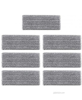 """7PCS Microfiber Mop Replacement Cleaning Pads 13""""x4.7"""" for Wet Dry Mops Flat Replacement Heads for Floor Cleaning and Scrubbing Microfiber Pros Reusable Mop Pads Compatible with Floor Care System"""