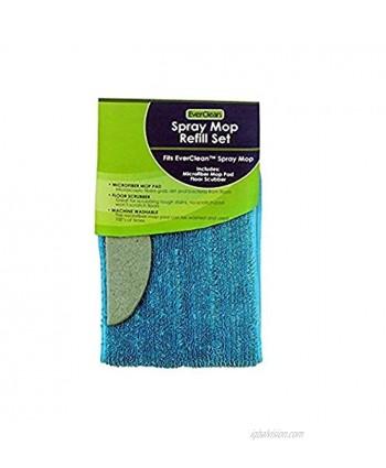 Everclean Microfiber Spray Mop Refill for Microfiber Spray Mop 7180 Aqua 7181