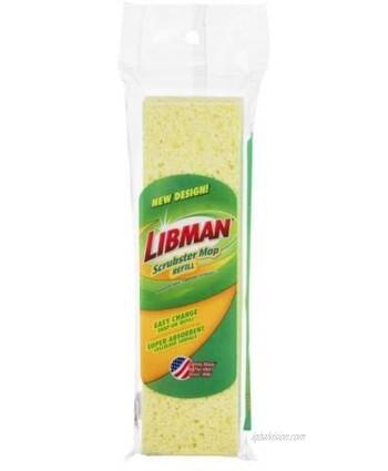 Libman Scrubster 9 in. Sponge Mop Refill 3105 Pack of 2