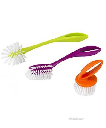 Casabella Loop 3-Piece Dish Brush Set 15519AZColors May Vary