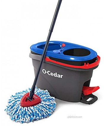 O-Cedar EasyWring RinseClean Microfiber Spin Mop & Bucket Floor Cleaning System Grey