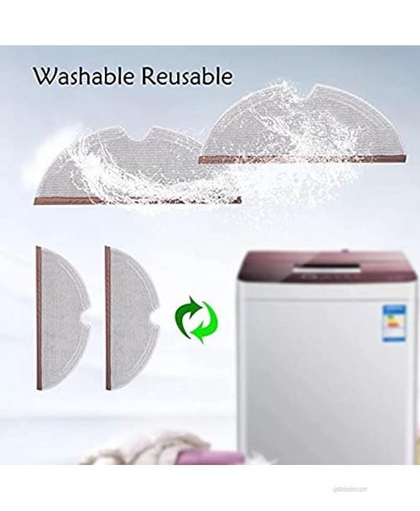 Microfiber Mop Cloth for Roborock S4 S5 S6 E4 E20 E25 E35 S50 Xiaomi Mi Mijia Robotic Vacuum Cleaner 8 Mop Cloth