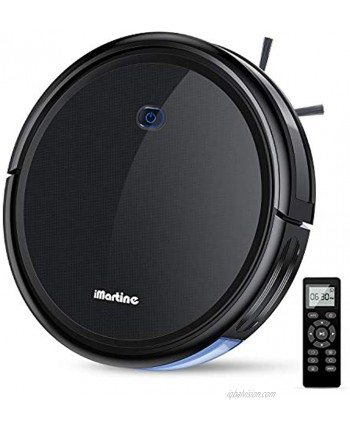 Robot Vacuum Cleaner iMartine 1600Pa Strong Suction Robotic Vacuum Cleaner Super-Thin Quiet Up to 120mins Runtime Automatic Self-Charging Robot Vacuum for Pet Hair Hard Floor to Medium-Pile