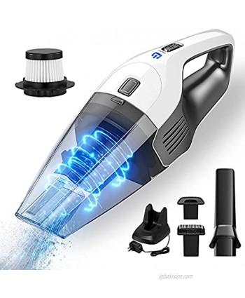 Handheld Vacuum Cleaner 8Kpa Wet-Dry Cordless Handheld Vacuum Cleaner 35min Running time 3~4h Fast Charge 100W Double HEPA Filter 600ml Large Capacity Vacuum Cleaner for Cars Houses pet Hair