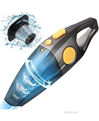 RUMIA Handheld Vacuum,7000Pa Powerful Suction Cordless Car Vacuum Cleaner,2 Speeds 120W High Power,Portable and Rechargeable Mini Pet Vacuum for Pet Hair Home and Car Cleaning
