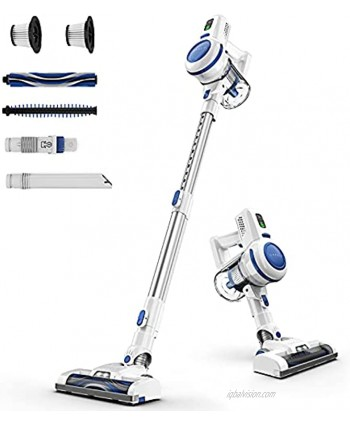 ORFELD Cordless Vacuum Cleaner 20000Pa Stick Vacuum 6 in 1 Long Runtime Lightweight & Ultra-Quiet for Hard Floor Carpet Pet Car Cleaning Blue & White V20