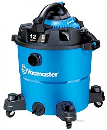 Vacmaster VBV1210 12-Gallon 5 Peak HP Wet Dry Shop Vacuum with Detachable Blower Blue