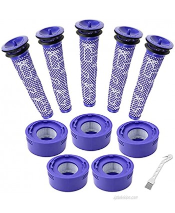 JoyBros 5 Pre-Filters and 5 Post-Filters Replacement Compatible with Dyson V7 V8 Animal and Absolute Cordless Vacuum Compare to Part 965661-01 and 967478-01