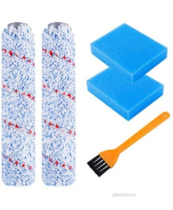 KEEPOW Replacement Brush Roller and Pre-Filter Foam Compatible with Tineco iFLOOR Cordless Wet Dry Vacuum Cleaner 5 Pack