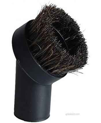 "Vacuum Attachment Replacement Round Dusting Brush Soft Bristle 1.25"" 1-1 4"" 32mm Black Brush for Most Brand Accepting 1.25'' Vacuum Hose"