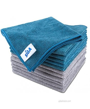 """MR.SIGA Microfiber Cleaning Cloth Pack of 12 Size: 15.7"""" x 15.7"""""""