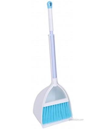Qidiwin Mini Broom&Dustpan Home&Kitchen Sweeping for KidsWhite+Blue