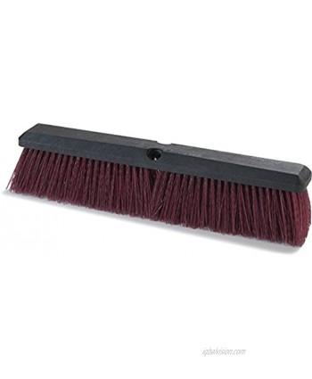 "Carlisle 3620722400 Flo-Pac Coarse Heavy Floor Sweep Hardwood Block 3-1 4""-Long Stiff Maroon Polypropylene Bristles 24"" L x 2-1 2"" W Case of 12"