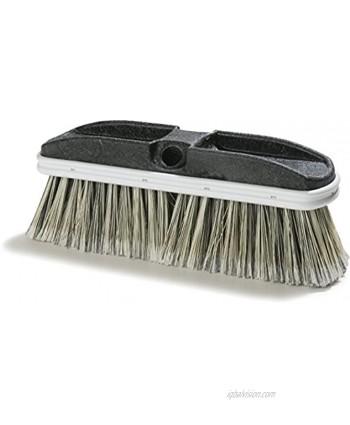 "Carlisle 3646600 Flo-Thru Plastic Block Brush Flagged Polystyrene Bristles 2.38"" Bristle Trim 10"" Length x 3"" Width"