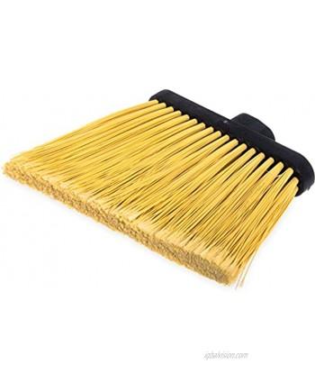 "Carlisle 3686700 Duo-Sweep Duo-Sweep Flagged Angle Broom Head Only 12"" Natural"
