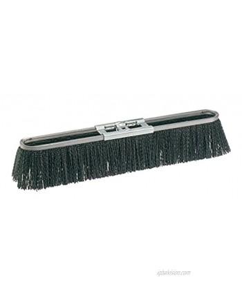 "Osborn 52114SP Economy Strip Broom Head Coarse Sweeping Crimped Synthetic Fill Material 18"" Block Head Length 3-3 8"" Trim Length Black"