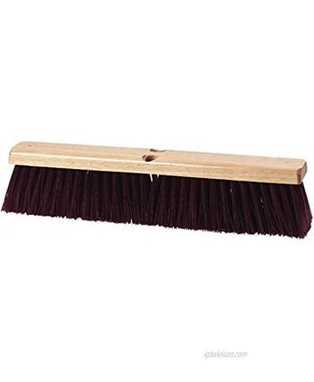 "Carlisle 3621933600 Flo-Pac Hardwood Block Crimped Sweep Polypropylene Bristles 36"" Block Size 3-1 4"" Bristle Trim Maroon Pack of 6"