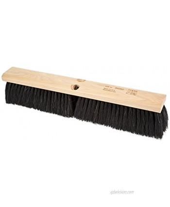 "PFERD 89260 Medium Sweeping Broom with Lacquered Hardwood Block 18"" Block Length 3"" Trim Length"